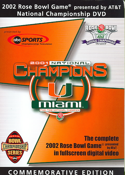 2002 ROSE BOWL:MIAMI FL VS NEBRASKA ( (DVD)